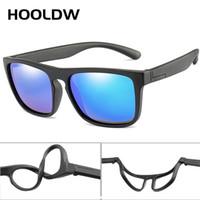 Hooldw 2021 novas crianças quadradas polarizadas crianças óculos de sol meninos meninas silicone breakable uv400 bebê óculos