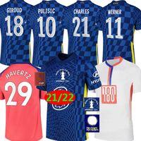 Chelsea 2021 maillot de football FA CUP Finale Wembley soccer jerseys 21/22 Havvertz Kante Wernerz Pulisic Ziyech Abraham Chilwell Mount Jorginho Hommes Enfants Kits Maillots
