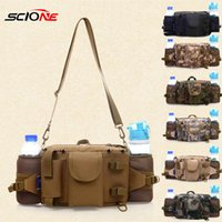Outdoor Bags Sports Waist Bag Cycling Camping Hiking Hunting Fishing With Water Bottle Holder Lure Rod XA644G