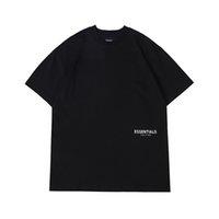 21ss Casual T Shirts Ins Primavera Verano Hip Hop Female de la camiseta de cinta reflectante de silicona de Dios con letras 3D en la espalda niebla hombres mujeres de manga corta