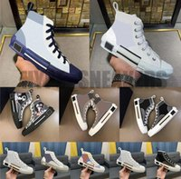 B22 B23 Calçados Casuais Mulheres Homens Luxurys Designers High Low Low Sapatilhas Oblique Trainers Bordado Impresso Sapato de Canvas do Alfabeto