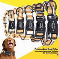 Custom Dog Collar Luxury Designer Personalized for Big Small Dogs Name ID Tag Accessories French Bulldog Pug