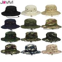 Jovivi Açık Boonie Şapka Geniş Ağız Nefes Safari Balıkçılık Şapka UV Koruma Katlanabilir Askeri Şapka Tırmanma Yaz Şapka Kapaklar