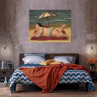 Sunbathing Oil Painting On Canvas Home Decor Handcrafts  HD ...
