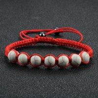 Fashion Giallo Linea turchese Braccialetto Pietra Rosso Black Bianco Corda A Mano Tessere coppia intrecciata gioielli intrecciati regalo unico perline, fili