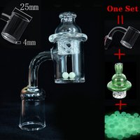 wholesale 25mm XL Quartz Banger Nail 10mm 14mm 18mm Male Female Cyclone Spinning Carb Cap terp pearls Dhl free