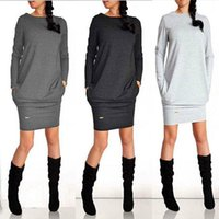 Casual Dresses Winter Long Sleeve Women's Dress Bodycon Evening Party Club Mini Pencil Loose Knitted Autumn Sweater Tops Pullover Jumper