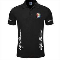 Arrivée Solid Color Alfa Romeo Hommes Polos Chemise Chemise Marque Top Qualité Vêtements de coton