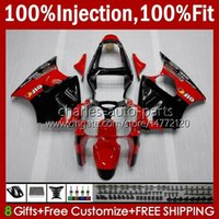 OEM-Körper-Spritzgussform für Kawasaki Ninja ZZR600 05-08 ZX ZZR-600 600 CC 05 06 07 08 Cowling 38HC.145 ZZR 600 600cc 2005 2006 2007 2008 100% Fit Fit Verkleidungsset rot schwarz heiß