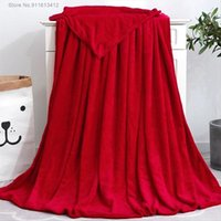 Blankets Home Textile Soft Solid Blanket Fleece Flannel Adult Sofa Bedding Red Green Blue Throw For Beds