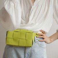 Bolsas de la cintura 2021 Diseñador Fanny Pack Mujer bolsa de mujer Cuero de vaca real Cinturón Cinturón Monedero Paquetes Teléfono torácico