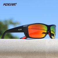 Kdeam Europäische und amerikanische Sportpolarisierte Sonnenbrille Männer und Frauen Bunte Strand Sonnenbrille TR90 Radsportbrille KD6069
