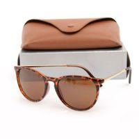 En Kaliteli Kadının Güneş Gözlüğü Reçine Lens Lüks Erkek Güneş Gözlük UV Koruma Erkekler Tasarımcı Gözlük Metal Menteşe Moda Kadınlar Orijinal Kutuları ile Gözlükler 4171