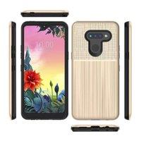 الجملة نحى الملمس TPU Double PC Layer Cases for Lg Stylo 6 K50S K51S Case 2 في 1 Samsung A11 A21 A21 A10E STYLUS الهاتف المحمول الملحقات موتو G7