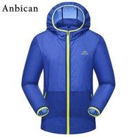 Anbican Fashion UV UV Protezione solare Abbigliamento Traspirante e impermeabile Summer Trench Uomo leggero Protezione solare Coat1