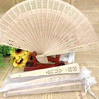 100Pcs Personalized Partys Engraved Wood Folding Hand Fan Wedding Personality Fans Birthday Customized Baby Decor Gifts For Guest
