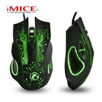 Micks 마우스 Imice X9 USB 직접 게임 광전 현혹 컬러 전자 스포츠 LOL
