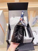 Mujeres Lujos C, VENDIDOS Bolsas Diseñadores Monederos Crossbody Caviar Calfskin Canal Bolsos El bolso de un solo hombro Moda Cadena Classic Cadena Tarjeta de Crédito Wallet 24x14cm YJK