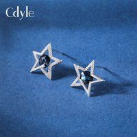 Sidale S925 Silver Ear Nail Women's Fashion Simple Versatile Niche Design Star Crystal Earrings Small