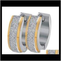 Hie Доставка 2021 Sier Gold Нержавеющая сталь Hoop ушное кольцо Панк Серьги мода Ювелирные изделия будут и песчаный падение корабля PS1568 LGQEA