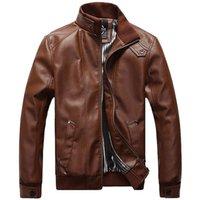 Yeni Erkek Ceketler PU Lokomotif Erkekler Giyim Ceket Erkek Deri Ceket Motosiklet Palto Erkek Chaqueta için