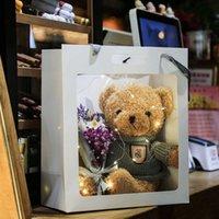 Gift box teddy bear doll cloth doll plush toy for girls