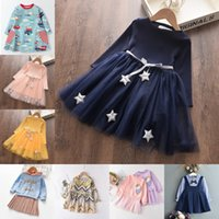Bear Leader Baby Girls Dress New Spring Casual Ruffles A-Line Striped Full Sleeve Kids Dress for 3T-7T Autumn Letter Vestido 1733 Y2