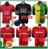 Retro 2002 Soccer Jersey Man Utd Football Giggs Scholes Beckham Ronaldo Cantona Solskjaer Keane 04 06 07 08 09 98 99 90 92 94 95 96 86 88 Nistelrooy