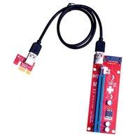Computerkabel-Anschlüsse 10pcs Ver007s PCI-E-Riser-Karte 007S PCIe 1x bis 16x Extender 15pin SATA-Leistung 60cm USB 3.0-Kabel für BTC LTC min