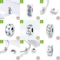 BamOer Stopper Charm 925 Sterling Silver Gear Bead Ajuste de la marca original Bricolaje de bricolaje Accesorios de Joyería SCC1780 1997 P2