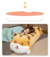 Lovely tiger pillow cross-border trade long plush toy doll wholesale custom card undertakes