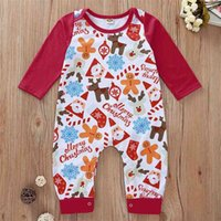 Winter Style Infant born Baby Romper Long Sleeve Print Santa Claus Cute Jumpsuits Babys Clothes Outfits 210623