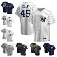 20 21 Yankees 99 Aaron Juez Jersey 45 Gerrit Cole 25 Gleyber Torres Giancarlo Stanton Sanchez Sabathia DJ Lemahieu Hombres Mujeres Niños Béisbol