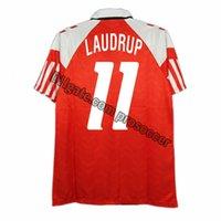 Retro Danimarka 1992-94 Ev Futbol Formaları Laudrup Larsen Elstrup Vintage Gömlek Futbol Kiti Klasik Üstler