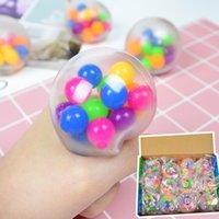 Dekompression Ballon Spielzeug 24 / pcs Sensorische Finger Spielzeug 6 cm Farbe Perlen Ball TPR Gummi Knete Autismus Angst Stress Reliever Sale H33HRJ7
