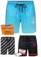 21SS 남자 비치 반바지 편지 인쇄 패션 반바지 여름 휴가 캐주얼 바지 양질 남성 의류 통기성 수영복