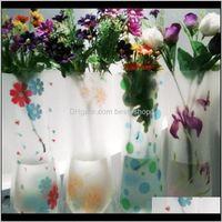 Vazen Décor Garden Drop Levering 2021 Clear PVC Plastic Watertas Ecofriendelijk Opvouwbare Bloem 1500 Stkspartij Herbruikbare Bruiloft Vaas Huis Dec