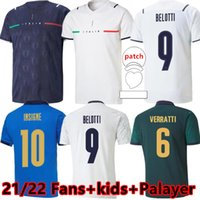 Fans Jogador Versão 20 21 22 22 Itália Jersey Futebol Away Belotti Jorginho Insigne Verratti Bernardeschi Pellegrini Kean Men + Kids Football Shirts Chiesa Barella