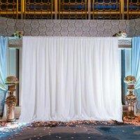 Party Decoration 1Pcs White Ice Silk Cloth Wedding Backdrop Drape Curtain Birthday Stage Background DIY Textiles 2x2m 3x3m