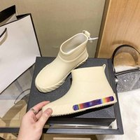 Short Rain Boots For Womens France Famous Designer Lady Plus Size Slippers Fashion Vintag Cartoon Sandals Flip Flop Flat Shoe Inter Milan Espadrilles Loafers Indoor