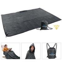 공장 직접 다기능 방수 옥외 후드 비옷 섹션 피크닉 매트 접이식 캠핑 담요 패드를 운반하는 쉽게