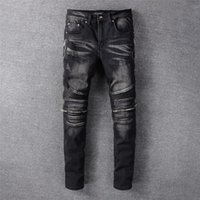 2021 Mens Designer Jeans Distressed Ripped Biker Slim Fit Motorcycle Denim For Men s Top Quality Fashion jean Mans Pants pour hommes #607