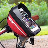 Bisiklet Çantası Bisiklet Telefon Tutucu Dağ Bisikleti Su Geçirmez Çanta Dokunmatik Cep Telefonu Standı Su Geçirmez Akıllı Mobil Bolsa Bicicleta