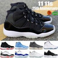 2021 Top 11 11s 25 aniversario Jumpman Mens Baloncesto Zapatos de baloncesto Bajo Blanco Concord Ovo Gray Snake Skin Pantone Hombres Mujeres Zapatillas de deporte