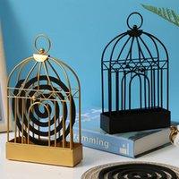 Nordic Minimalist Style Ferro Bird Bird Cage Zanzariera Coil Dectro Home Creativo Camera da letto Desktop Stand Estate Decorat C2J2 Oggetti decorativi Figu