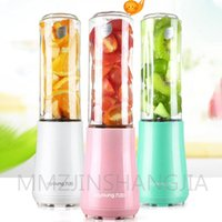 Juicers BPA FREE Home Mini Portable Juicer Electric Stainless Steel Four Leaf Knife Hand Held Blender Easy To Clean L3-C1