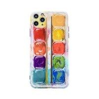 Capas telefônicas coloridas de pigmento para iPhone 12 mini 11 pro max moda creative se 7 8 mais x xr xs soft protege tampa traseira