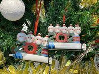 2021 Décoration de Noël Décoration de Noël Produit de l'ornement de Noël Famille personnalisée de 1-9 pendentif pandémie avec cadeau de festival de seringue