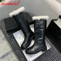 Women Winter Warm Boots ankle Slip On Shoes All Match Chelsea Boot Elastic Band Motorcycle Shoe Genuine Leather Snow Botas De Mujer Size 35-40