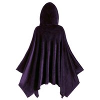 Women's Hoodies & Sweatshirts HoodiesHollween Fashion Women Long-sleeved Solid Cloak Vintage Matching Hooded Cape Coat Sudaderas Con Capuch